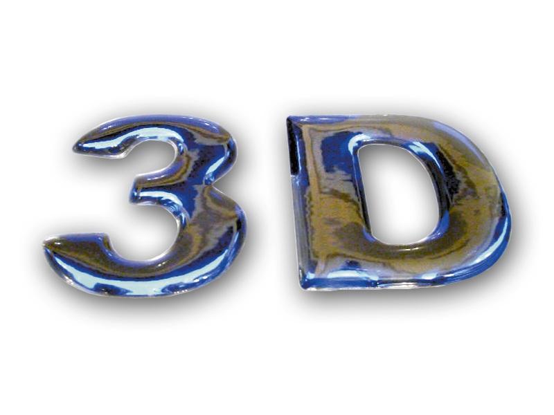 3D Doming Chrom