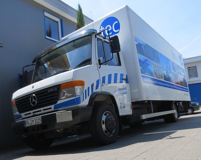 Lieferwagen-Beklebung